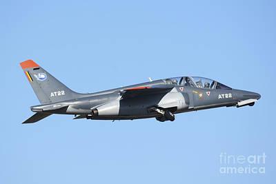 Belgian Air Force Alpha Jet Taking Off Art Print by Daniele Faccioli