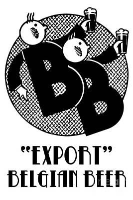 Beer Drawings - Belgian beer cartoon style by Aapshop