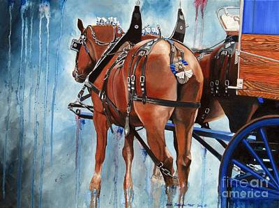 Painting - Belgian Blues by Heidi Parmelee-Pratt
