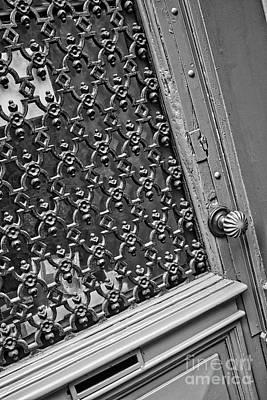 Old Door Photograph - Belgian Door Black And White by Carol Groenen