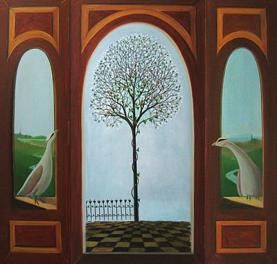 Painting - Belgian Triptyck by Tone Aanderaa
