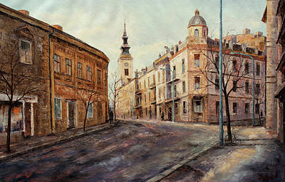 Belgrade Painting - Belgrade - Obilicev Wreath by Miroslav Stojkovic