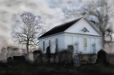 Graveyard Digital Art - Belief And Reality by Donald Schwartz