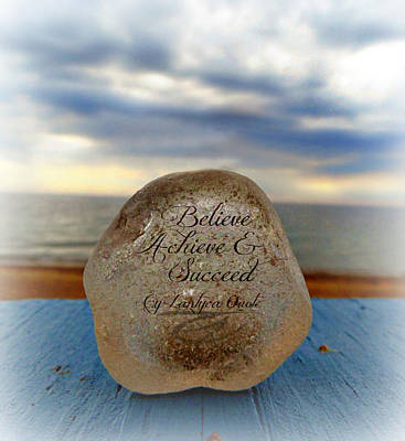Painting - Believe Achive Succeed by Cyryn Fyrcyd