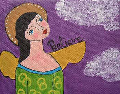 Painting - Believe Angel by Christine Quimby