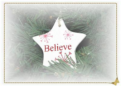 Photograph - Believe Star by Ellen Barron O'Reilly