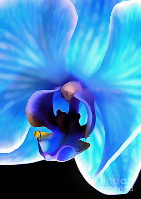 Macro Digital Art - Believe In Blue by Krissy Katsimbras