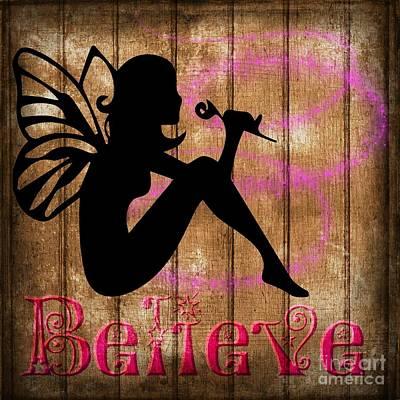 Digital Art - Believe In Fairies by Lita Kelley