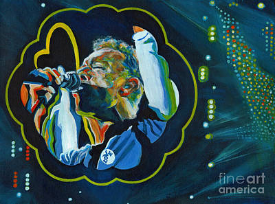 Coldplay Painting - Believe In Love - Chris Martin by Tanya Filichkin