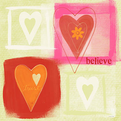 Painting - Believe In Love by Linda Woods
