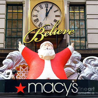 Photograph - Believe In Santa Claus At Macy's New York City by John Rizzuto