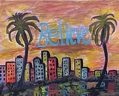 Painting - Believe. by Jonathon Hansen