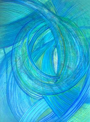 Abstract Movement Drawing - 'explore A Larger Centre' by Kelly K H B