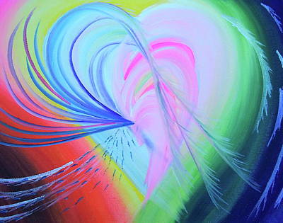 Colour Painting - Believing In Self by Beverley Ritchings