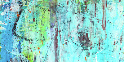 Painting - Believing - Modern Blue Bright Abstract Art Painting by Modern Art Prints