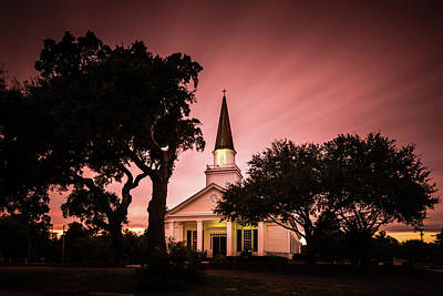 Church Photograph - Belin Memorial Umc Sunset by Ivo Kerssemakers