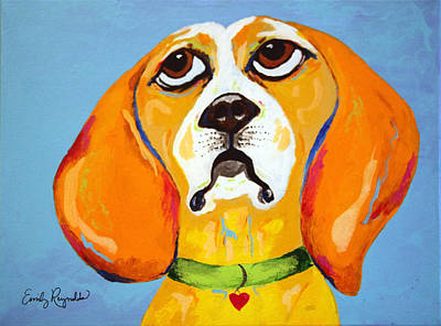 Belinda The Beagle Art Print by Emily Reynolds Thompson