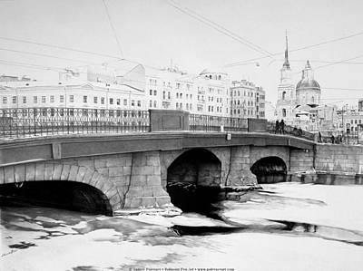 Graphics Painting - Belinsky Bridge by Andrey Poletaev