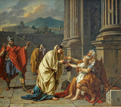 Painting - Belisarius, General Of The Roman Emperor Justinian, Reduced To Begging by Jacques-Louis David