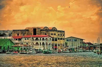 Belize City Harbor Art Print