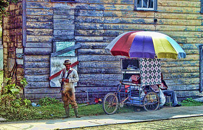 Belize City Street Merchant Art Print