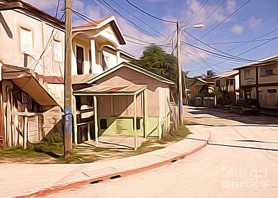 Belize - Neighborhood Corner Art Print