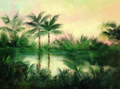 Belize River Art Print by Sally Seago