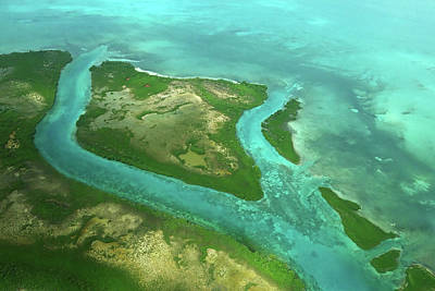 Photograph - Belize Topography Blue Rivers by Toby McGuire