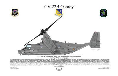 Digital Art - Bell Boeing Cv-22b Osprey 20sos by Arthur Eggers