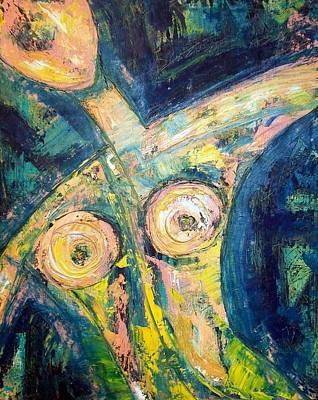 Visionary Art Painting - Bell Bottom Blues by Kathy Augustine MFA