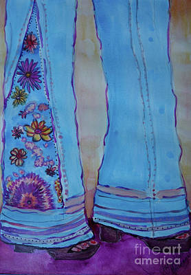 Love Is Free Painting - Bell Bottoms by Jacqueline Athmann