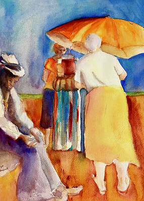 Painting - Bell Bottoms On The Beach by Carole Johnson