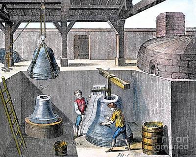 Bell Casting, 1763 Art Print by Granger