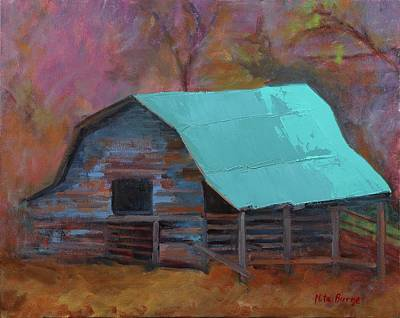 Painting - Bell Creek Barn by Nita Burge