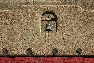 Photograph - Bell In An Adobe Wall by Stuart Litoff