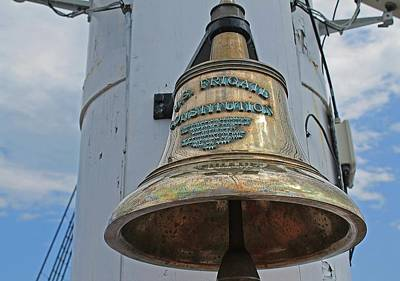 Photograph - Bell Of Uss Constitution Boston Ma by Michael Saunders