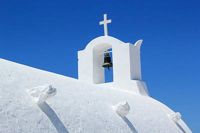 Photograph - Bell On A Church, Oia, Santorini, Greece by Elenarts - Elena Duvernay photo