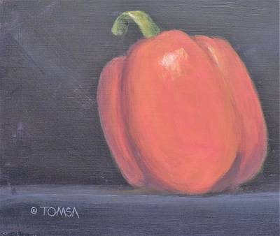 Painting - Bell Pepper by Bill Tomsa