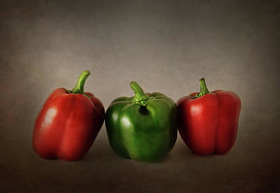 Photograph - Bell Pepper Trio by David and Carol Kelly