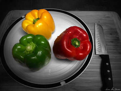 Photograph - Bell Peppers by Iowan Stone-Flowers
