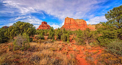 Photograph - Bell Rock Courthouse Butte Pano by LeeAnn McLaneGoetz McLaneGoetzStudioLLCcom