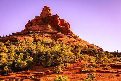 Bell Rock In Sedona Print by Alexey Stiop