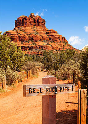 Marker Photograph - Bell Rock Path In Sedona Arizona by Susan Schmitz