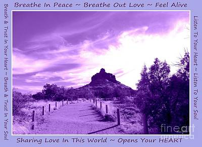 Photograph - Bell Rock Purple Breathe by Marlene Rose Besso