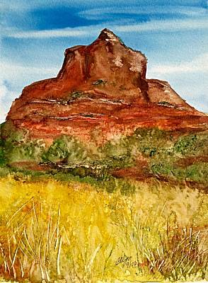 Bell Rock Sedona Arizona Art Print by Ellen Levinson