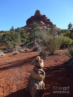 Photograph - Bell Rock With Cairn Sculpture by Marlene Rose Besso
