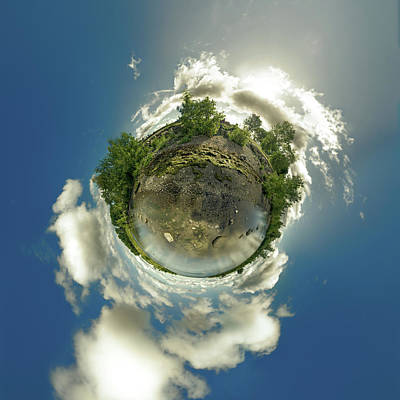 Photograph - Bell Slip Sunrise - Tiny Planet by Chris Bordeleau