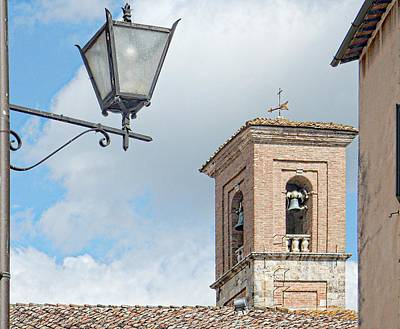 Photograph - Bell Tower And Street Light In Cetona Tuscany by Dorothy Berry-Lound
