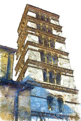 Digital Art - Bell Tower by Giuseppe Cocco