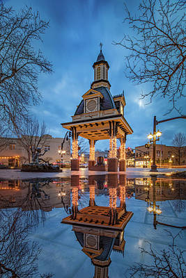 Photograph - Bell Tower  In Beaver  by Emmanuel Panagiotakis